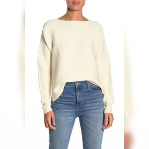 14th & Union Boatneck Ribbed Knit Ottoman Pullover
